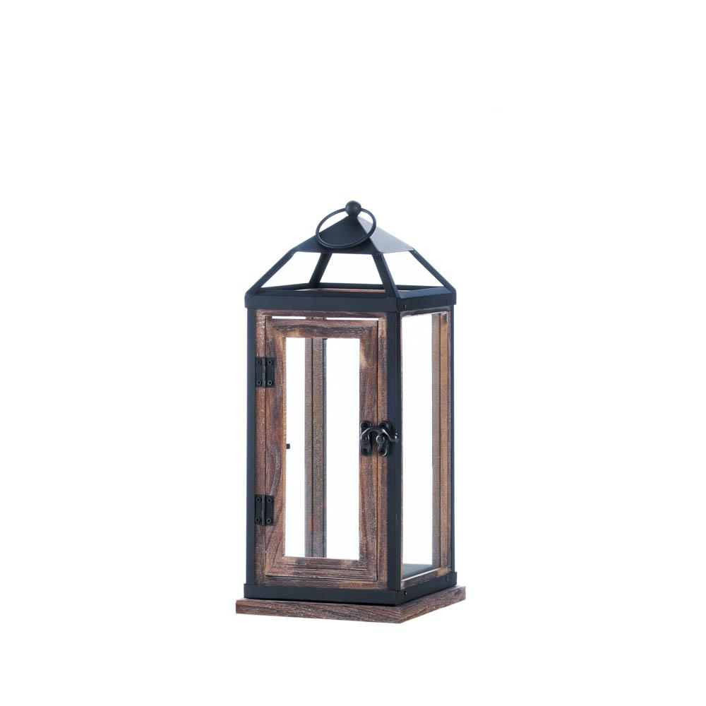 Wooden Trim Contemporary Lantern - Primrose Creations Shop