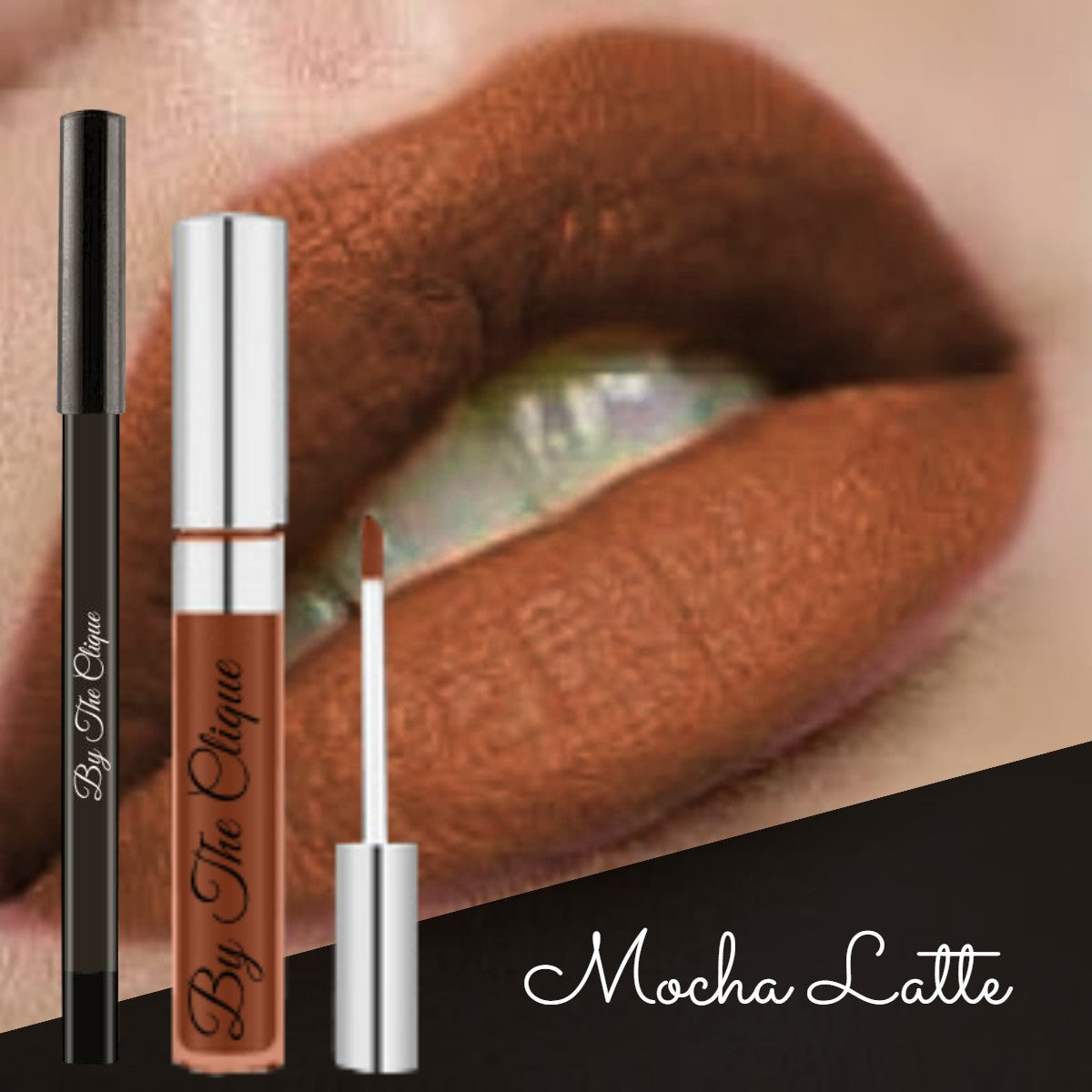 """Mocha Latte"" Premium Long Lasting Brown Matte Lip Kit 