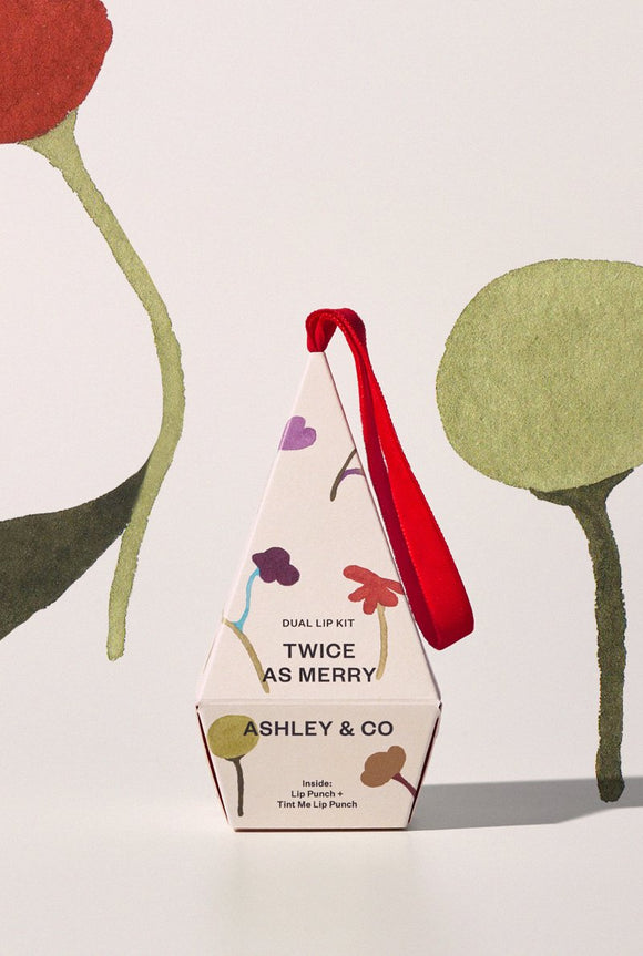 ASHLEY & CO Twice as Merry Dual Lip Kit