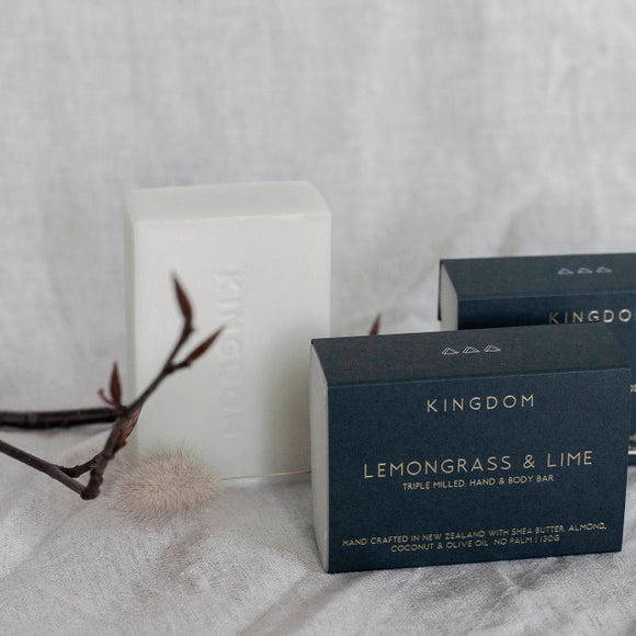 KINGDOM<BR> Lemongrass & Lime<BR>Hand & body bar
