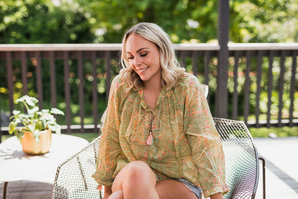 STELLA&GEMMA  Fern/Melon Corfu Shirt