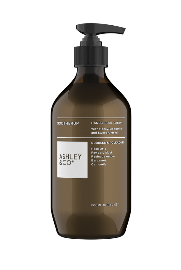 ASHLEY & CO<BR> Sootherup<BR> Hand&Body Bubbles & Polka dots