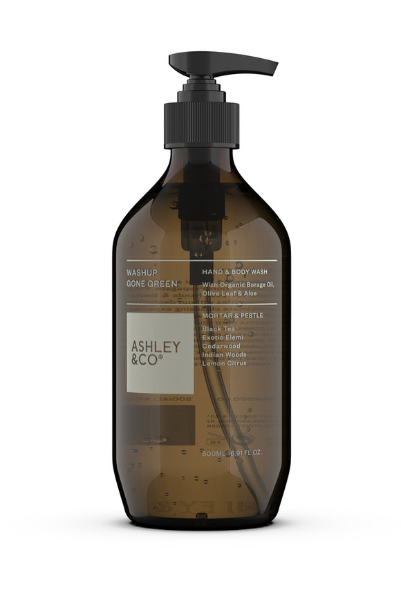 ASHLEY & CO<BR>100% Natural Hand & Body wash<BR> Mortar & Pestle