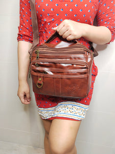PU LEATHER SLING BAG ( BUY 1 TAKE 1)