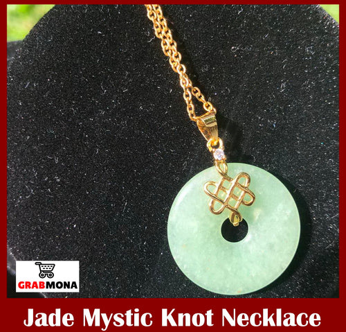 Jade Mystic Knot Necklace