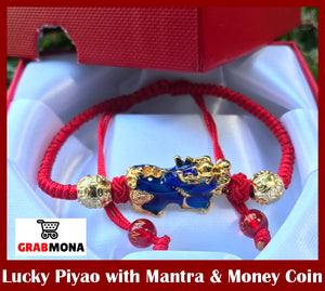 Lucky Piyao With Mantra & Money Coin