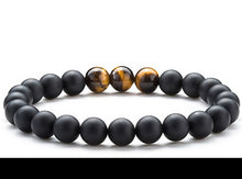 Premium Black Onyx Bracelet with Tiger Eye