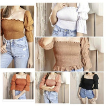 PUFF OFF SHOULDER  TOP (BUY 1 GET 1)