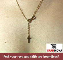 Forevermore Infinity Cross Necklace