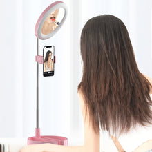 Dimmable Selfie Ringlight With Cellphone Holder at Makeup Stand