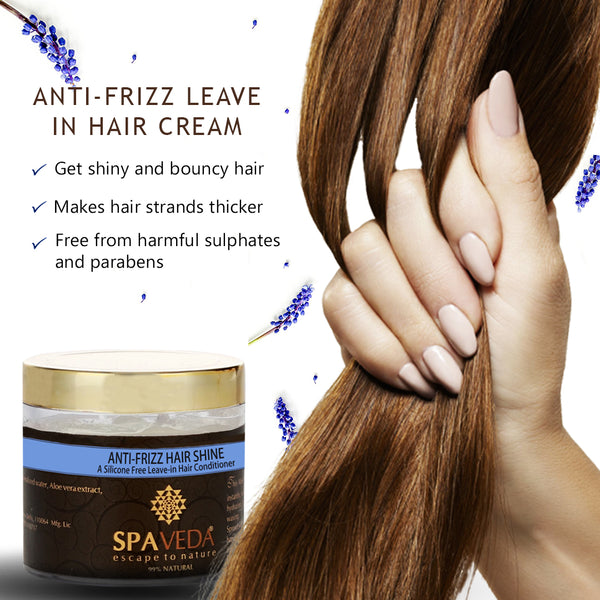 Anti-frizz hair shine Silicone free leave-in hair conditioner