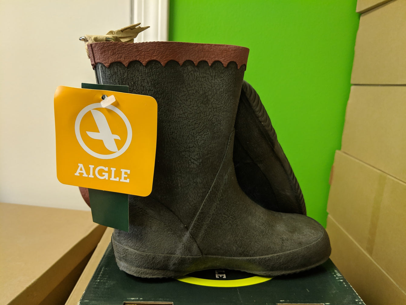 Aigle Bison Kid Boots Kids Ambre and Khaki 49005 49007