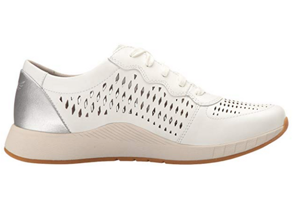 Dansko Women's Charlie Fashion Sneaker - White Leather
