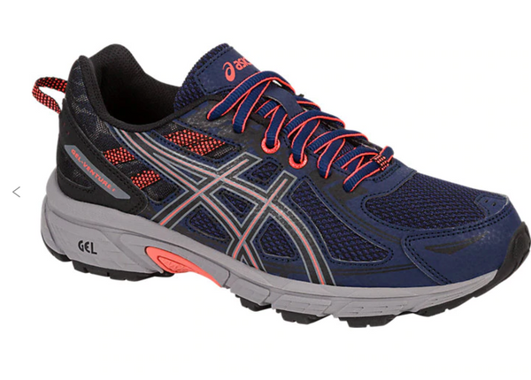 Asics Gel-venture 6) Womens shoe (7, Indigo Blue/Black/Flash Coral)