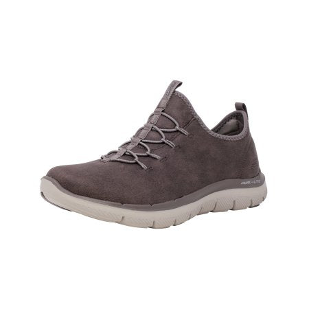 Skechers Women's Flex Appeal 2.0 - Top Story Dark Taupe Ankle-High Walking Shoe  Skechers  kick-it-shoe-outlet.myshopify.com Kick-it Shoe Outlet Shoes Cheap