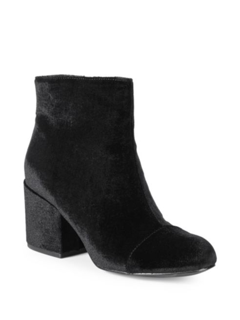 Charles by Charles David Quincey Velvet Ankle Booties