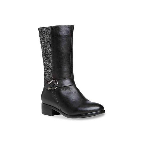Propet Tessa Harness Boot Black Full Grain Leather