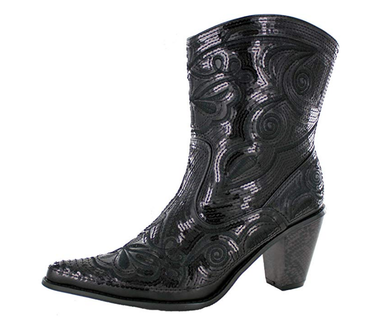 Helens Heart Bling Boots LB-0290-11 (6, Black)