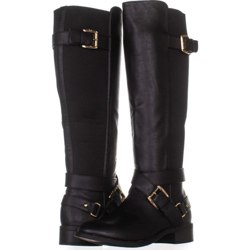 TS35 Vada Stretch Knee High Harness Boots 054, Black