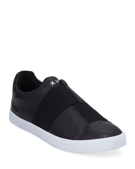 DKNY Men's Brogan Slip-On Leather Sneakers