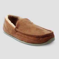 Men's Deer Stags Spun Loafer Wide Width Slippers - Chestnut 7W