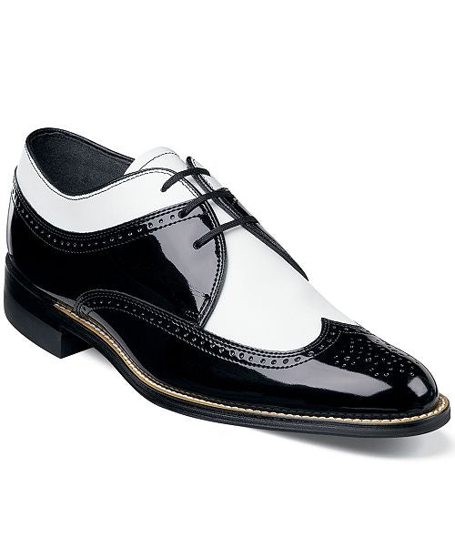 Stacy Adams Men's Dayton Oxford - Black Patent / White