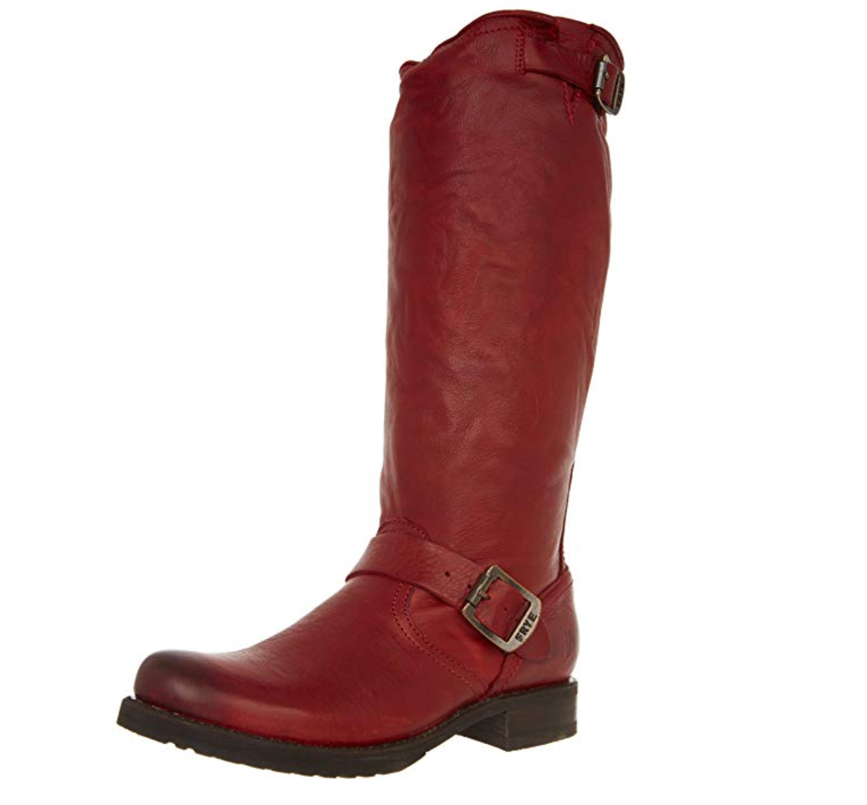 Frye Womens Veronica Slouch Burnt Red Soft Vintage Leather-76602 Riding Boots