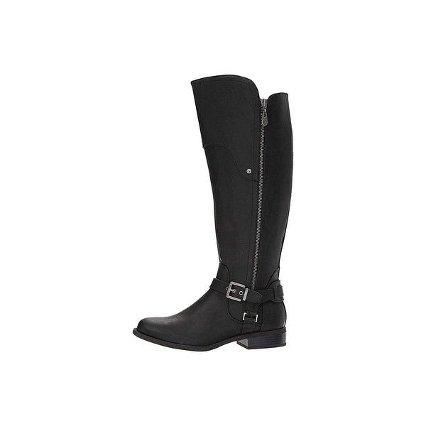 G by Guess G By Guess Womens Harson 5 Round Toe Knee High Fashion Boots (7.5W, Black Multi)