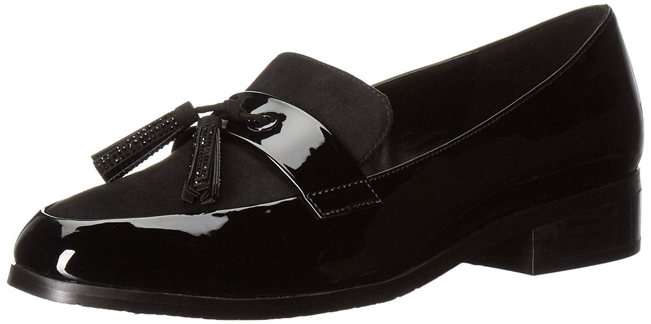 Kenneth Cole REACTION Women's Jet Ahead Dress Loafer with Tassel Detail Patent Slip-On