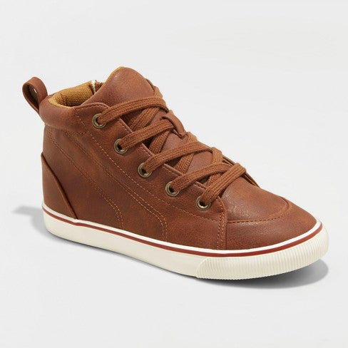 Boys' Florian Mid Top Sneakers - Cat & Jack Tan  Kick-it Shoe Outlet  kick-it-shoe-outlet.myshopify.com Kick-it Shoe Outlet Shoes Cheap