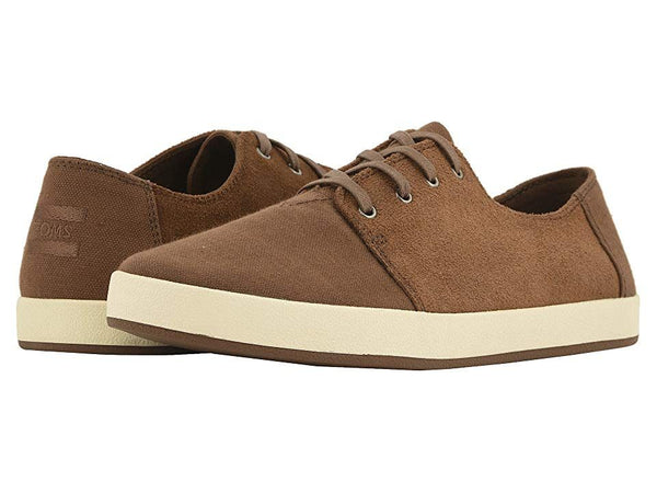 Toms Mens Payton Shoes (9.5, Bark OIled Suede/Cotton Twill)
