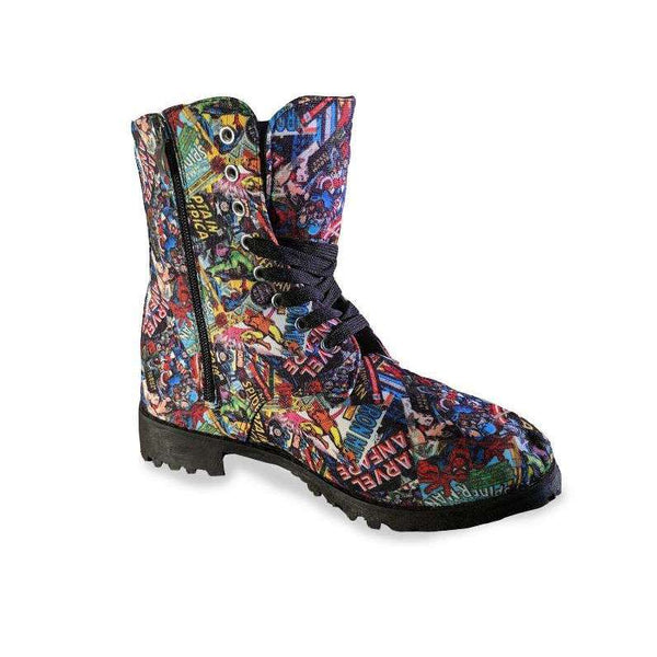 Allover Marvel Boots  Esquire Footwear  kick-it-shoe-outlet.myshopify.com Kick-it Shoe Outlet Shoes Cheap
