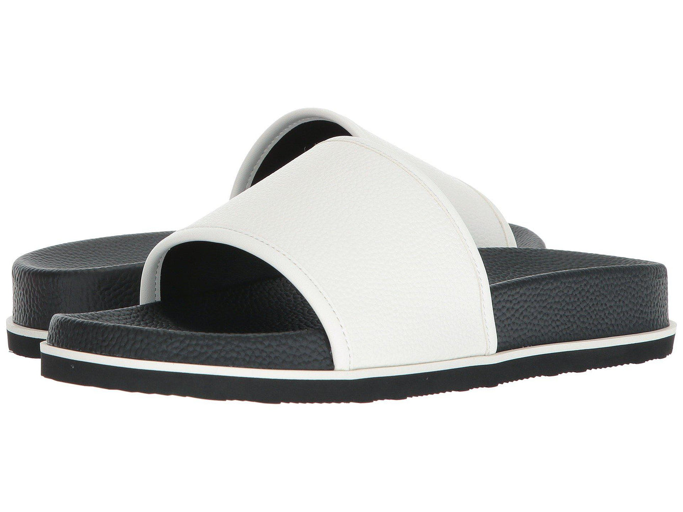 Calvin Klein Mackee Tumbled Smooth Brushed White Slide