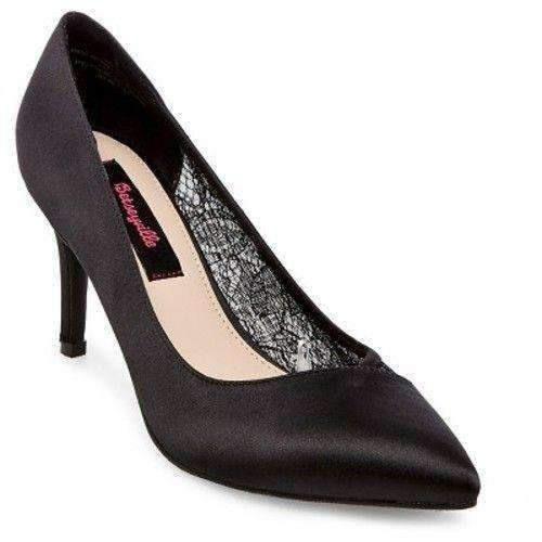 Betseyville Bristol Lace Panel Satin Pumps  Betseyville  kick-it-shoe-outlet.myshopify.com Kick-it Shoe Outlet Shoes Cheap