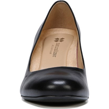 Naturalizer Whitney Black Leather Block Heel  Naturalizer  kick-it-shoe-outlet.myshopify.com Kick-it Shoe Outlet Shoes Cheap