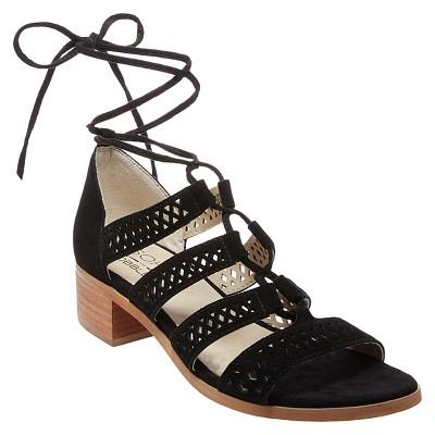 Soho Cobbler Druzy Block Heel Laser Cut Suede Gladiator Sandals 7.5 / Black Soho  kick-it-shoe-outlet.myshopify.com Kick-it Shoe Outlet Shoes Cheap