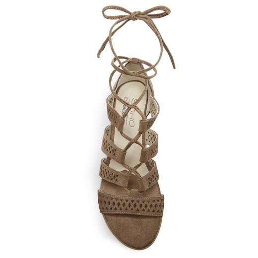 Soho Cobbler Druzy Block Heel Laser Cut Suede Gladiator Sandals  Soho  kick-it-shoe-outlet.myshopify.com Kick-it Shoe Outlet Shoes Cheap