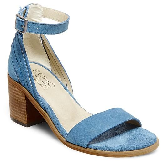 Soho Cobbler Serene Suede Quarter Strap Sandals 8 / Blue Soho  kick-it-shoe-outlet.myshopify.com Kick-it Shoe Outlet Shoes Cheap