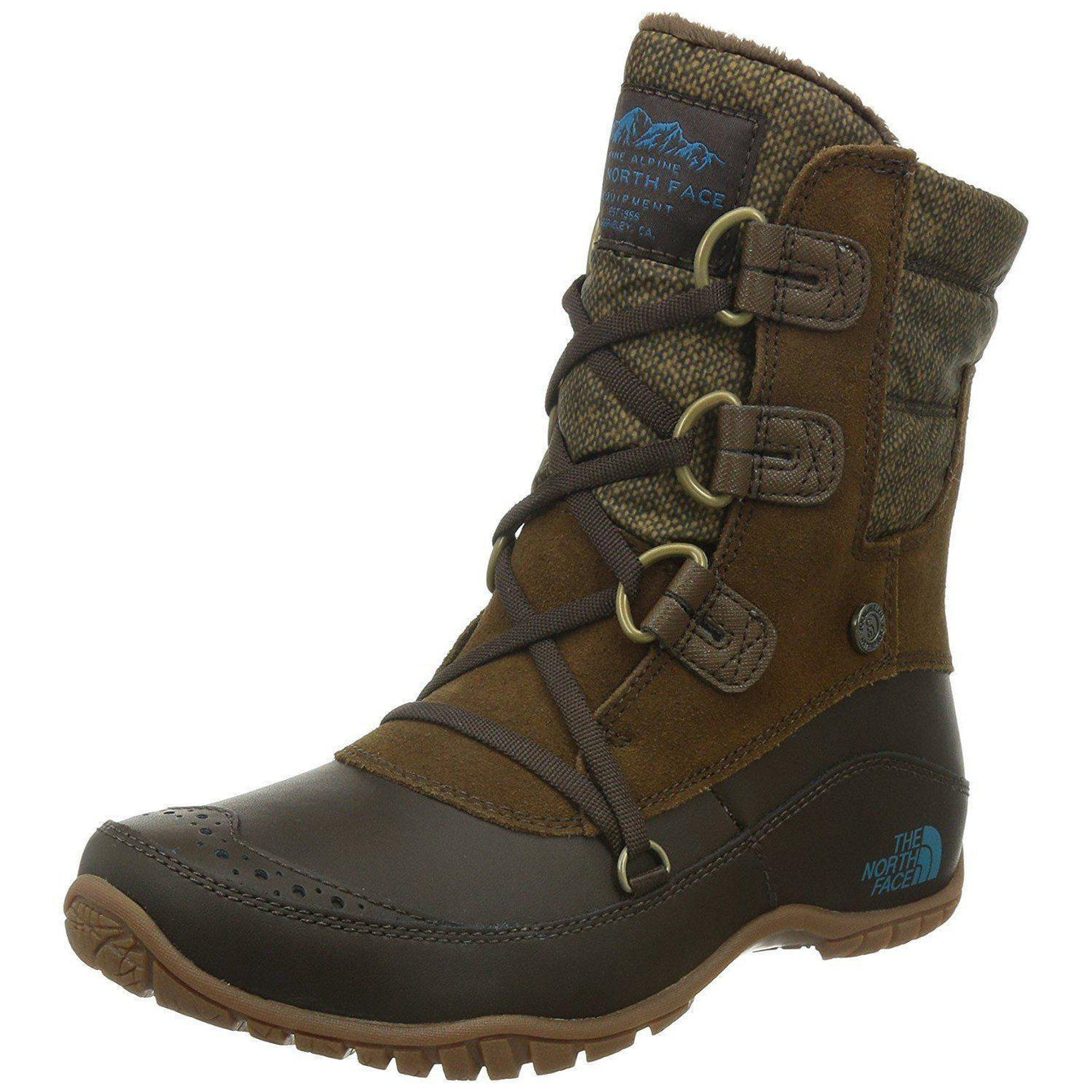 The North Face Nuptse Purna Shorty Boot Women's 5.5 / Desert Palm Brown/Storm Blue The North Face  kick-it-shoe-outlet.myshopify.com Kick-it Shoe Outlet Shoes Cheap