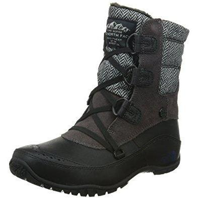 The North Face Nuptse Purna Shorty Boot Women's 5.5 / Plum Kitten Grey/Astral Aura Blue The North Face  kick-it-shoe-outlet.myshopify.com Kick-it Shoe Outlet Shoes Cheap