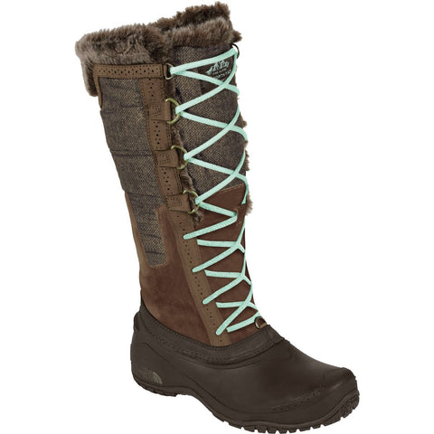 The North Face Shellista II Boot Tall Womens Desert Palm Brown/Surf Green