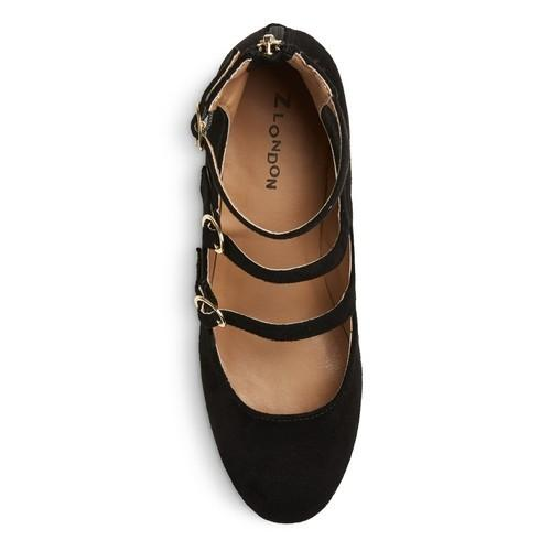 Z-London Triple Buckle Block Heel Pumps  Z-London  kick-it-shoe-outlet.myshopify.com Kick-it Shoe Outlet Shoes Cheap