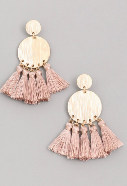 Tassel Coin Earrings
