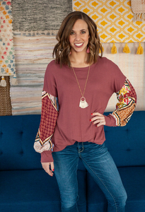 Taryn Bubble Sleeve Top