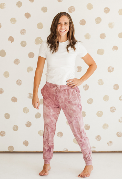 Tie Dye Jogger Rose Mix