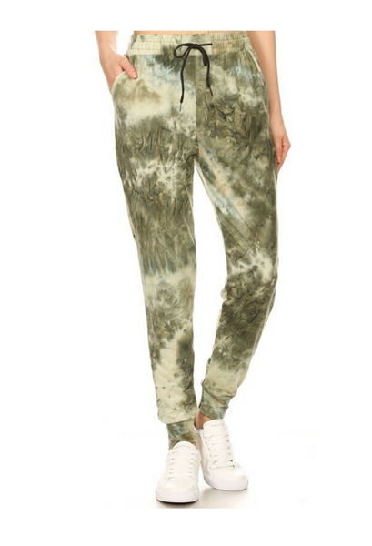 Tie Dye Jogger Green Mix