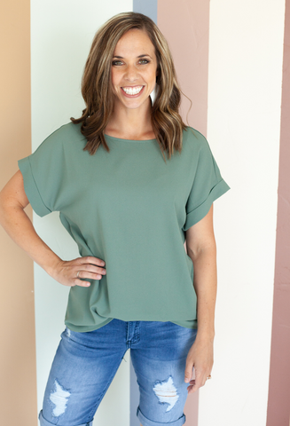 Karissa Rolled Sleeve Top