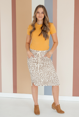 Animal Instinct Skirt Mocha