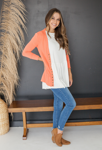 perfect sweater coral