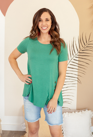 Tess Breezy Button Top